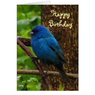 Indigo Bunting Birthday Card