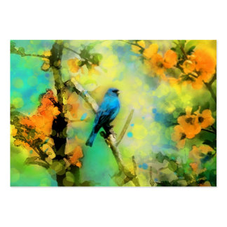 Indigo Bunting, Business cards, unique business Large Business Card