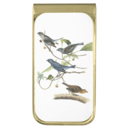 Indigo Bunting by Audubon Gold Finish Money Clip