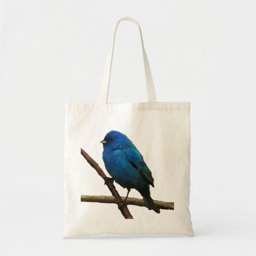 Indigo Bunting Canvas Bags