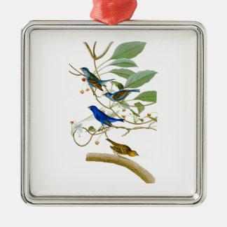 Indigo Bunting John James Audubon Birds of America Metal Ornament