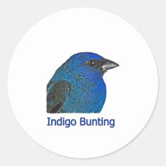 Indigo Bunting Logo Round Sticker