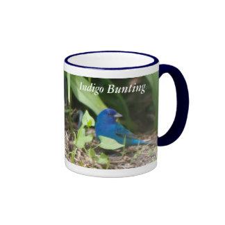 Indigo Bunting Ringer Coffee Mug
