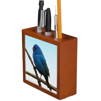 Indigo Bunting Pencil Holder