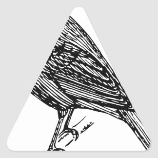 Indigo Bunting Triangle Sticker