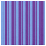 [ Thumbnail: Indigo & Cornflower Blue Striped/Lined Pattern Fabric ]