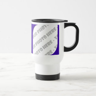 Indigo Curves Photo Travel Mug - Create Your Own