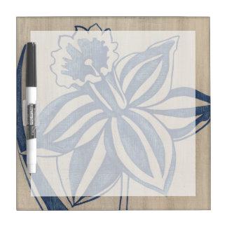 Indigo Daffodil Dry-Erase Board