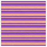 [ Thumbnail: Indigo, Dark Orchid & Light Salmon Colored Lines Fabric ]