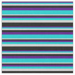 [ Thumbnail: Indigo, Dark Turquoise, Light Gray & Black Colored Fabric ]