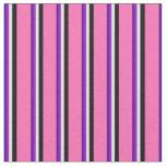 [ Thumbnail: Indigo, Dark Violet, Beige, Black, and Hot Pink Fabric ]