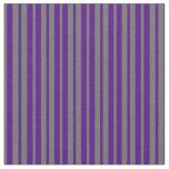 [ Thumbnail: Indigo & Dim Gray Lines Pattern Fabric ]