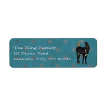 INDIGO DONKEY & OWL Address Label