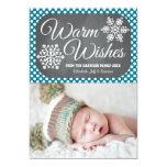 Indigo Dot Chalkboard Snowflake Holiday Photo Card Invites