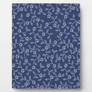 Indigo Dye Pattern Photo Plaques