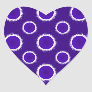 Indigo Eclipse Heart Sticker