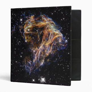 Indigo Edged Stellar Debris Cloud 3 Ring Binder