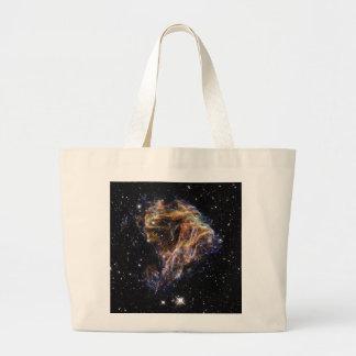 Indigo Edged Stellar Debris Cloud Canvas Bag