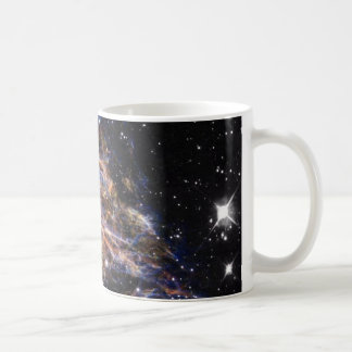 Indigo Edged Stellar Debris Cloud Coffee Mug