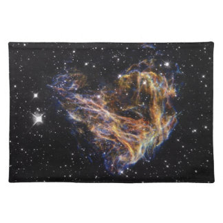 Indigo Edged Stellar Debris Cloud Placemat