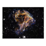 Indigo Edged Stellar Debris Cloud Postcard