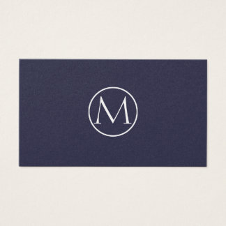 Indigo Elegant Business Card