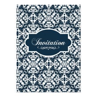 Indigo Engravers Nautical Floral Design Card