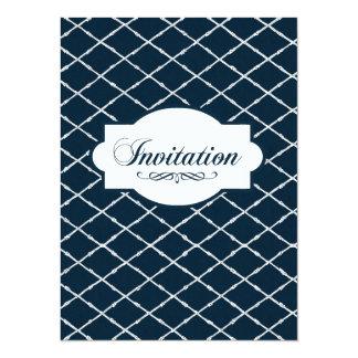 Indigo Engravers Nautical Lattice Design Card
