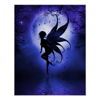Indigo Fairy 11 x 14 Poster