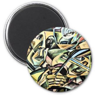 indigo Fiddler 2 Inch Round Magnet