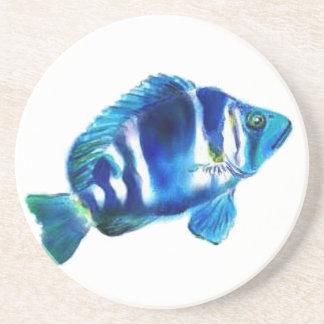 Indigo Fish Coaster