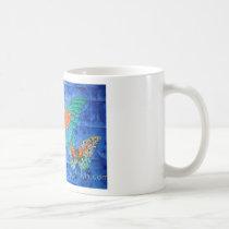 indigo-flight-mug, butterfly-painting-mug, butterfly-painting-by-timothy-orikri, butterflies, butterfly, indigo-flight-painting-by-orikri, timothy-orikri, Mug with custom graphic design