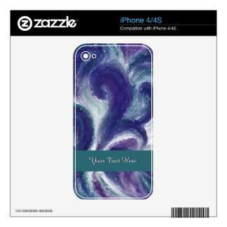 Indigo Flow Decal For The iPhone 4