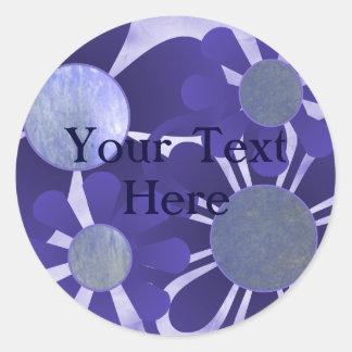 Indigo Flower Stickers