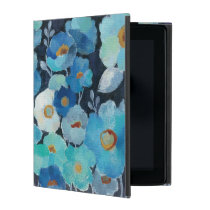 Indigo Flowers iPad Cover