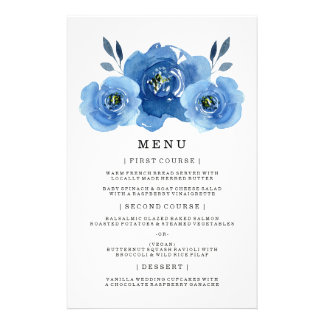 Indigo Flowers | Wedding Dinner Menu