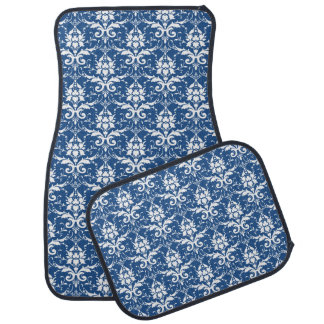 Indigo French Country Car Mat Set