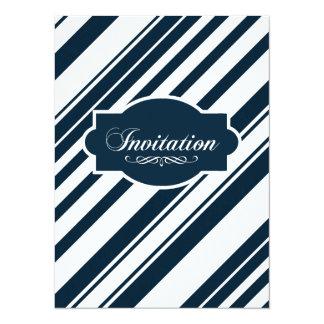 Indigo Graphic Nautical Stripe Card