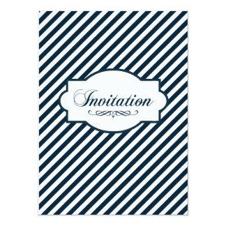 Indigo Graphic Nautical Wedding Invitation