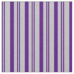 [ Thumbnail: Indigo & Grey Colored Lines/Stripes Pattern Fabric ]