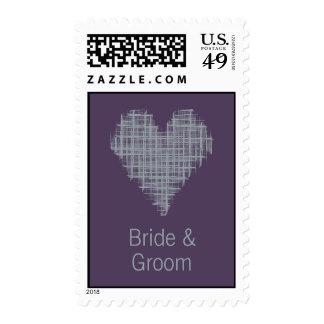 Indigo heart Wedding Stamp