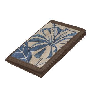 Indigo Hibiscus Trifold Wallet