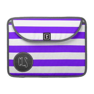 Indigo Horizontal Stripes; Chalkboard MacBook Pro Sleeves