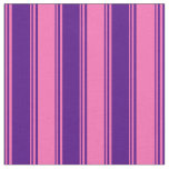 [ Thumbnail: Indigo & Hot Pink Pattern Fabric ]