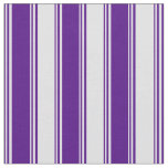 [ Thumbnail: Indigo & Lavender Colored Pattern of Stripes Fabric ]