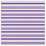 [ Thumbnail: Indigo & Lavender Colored Striped Pattern Fabric ]