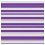 [ Thumbnail: Indigo & Light Cyan Colored Pattern of Stripes Fabric ]