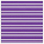 [ Thumbnail: Indigo & Light Cyan Lines/Stripes Pattern Fabric ]