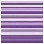 [ Thumbnail: Indigo & Light Cyan Pattern of Stripes Fabric ]