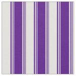 [ Thumbnail: Indigo & Light Cyan Stripes Pattern Fabric ]